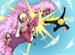 one_piece_723__sanji_vs_doflamingo_request_by__by_eguiamike-d7m8ydy