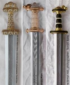 Высококачественные современные реплики мечей с узорной сваркой